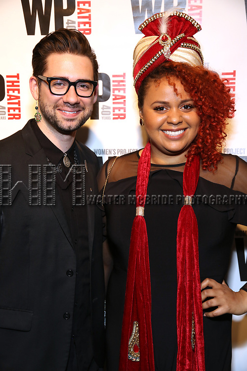 Rodney Bush and Alyssa Simmons attends the WP Theater's 40th Anniversary Gala -  Women of Achievement Awards at the Edison Hotel on April 15, 2019  in New York City.
