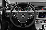 Car pictures of steering wheel view of a 2017 Volkswagen Golf S 5 Door Hatchback Steering Wheel
