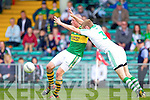 Kieran Donaghy breaks away from Shane Gallagher in the Muster Senior Semi final held in The Gaelic Grounds last Saturday evening.
