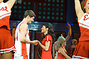 High School Musical , A Disney Theatrical Production based on the Walt Disney Film. .With  Claire-Marie Hall as Gabriella Montez,Mark Evans as TroyOpens at The Hammersmith Apollo Theatre  on 5/7/08. CREDIT Geraint Lewis