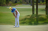 Rafael Cabrera Bello (ESP) watches his putt on 1 during round 1 of The Players Championship, TPC Sawgrass, at Ponte Vedra, Florida, USA. 5/10/2018.<br /> Picture: Golffile | Ken Murray<br /> <br /> <br /> All photo usage must carry mandatory copyright credit (&copy; Golffile | Ken Murray)