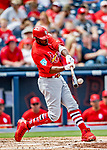 26 February 2019: St. Louis Cardinals outfielder Dexter Fowler connects during a Spring Training game against the Washington Nationals at the Ballpark of the Palm Beaches in West Palm Beach, Florida. The Cardinals defeated the Nationals 6-1 in Grapefruit League play. Mandatory Credit: Ed Wolfstein Photo *** RAW (NEF) Image File Available ***