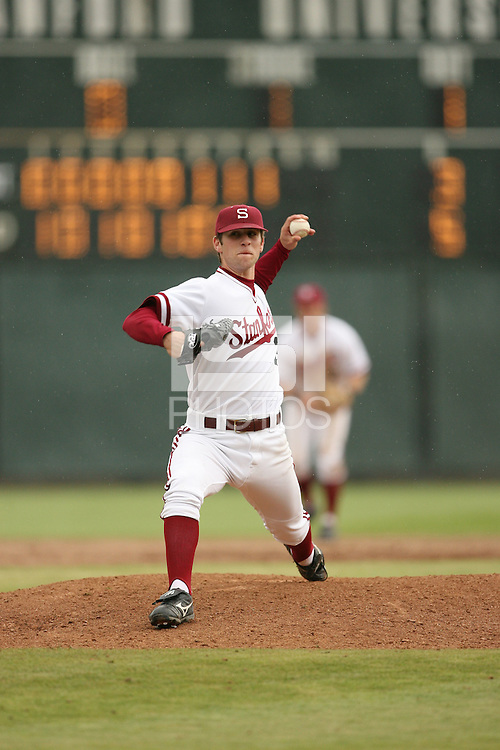 27 March 2006: Jeremy Bleich during Stanford's 5-3 win over the Washington State Cougars at Sunken Diamond in Stanford, CA.