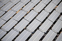 Nov. 28, 2009; Tempe, AZ, USA; Solar panels cover the roof of the parking lot next to the stadium during the game between the Arizona State Sun Devils against the Arizona Wildcats at Sun Devil Stadium. Arizona defeated Arizona State 20-17. Mandatory Credit: Mark J. Rebilas-