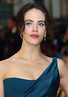Jessica Brown Findlay at The Guernsey Literary And Potato Peel Pie Society World Premiere at the Curzon Mayfair, London, on Monday April 9th 2018<br /> CAP/ROS<br /> &copy;ROS/Capital Pictures