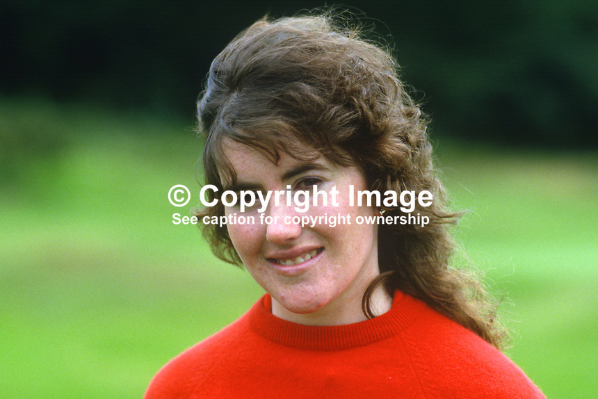 Bridget Gleeson, amateur golfer, Munster, Rep of Ireland, 19850801BG1..Copyright Image from Victor Patterson, 54 Dorchester Park, Belfast, UK, BT9 6RJ..Tel: +44 28 9066 1296.Mob: +44 7802 353836.Voicemail +44 20 8816 7153.Skype: victorpattersonbelfast.Email: victorpatterson@me.com.Email: victorpatterson@ireland.com (back-up)..IMPORTANT: If you wish to use this image or any other of my images please go to www.victorpatterson.com and click on the Terms & Conditions. Then contact me by email or phone with the reference number(s) of the image(s) concerned.