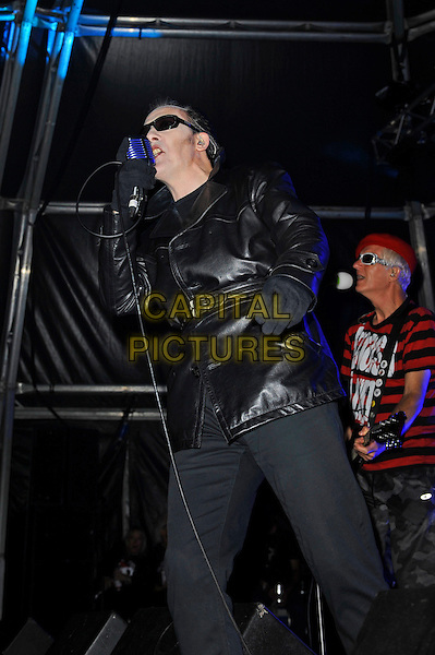 BLACKPOOL, ENGLAND - AUGUST 6: Captain Sensible and Dave Vanian of 'The Damned' performing at Rebellion Festival, Tower St Arena on August 6, 2016 in Blackpool, England.<br /> CAP/MAR<br /> &copy;MAR/Capital Pictures