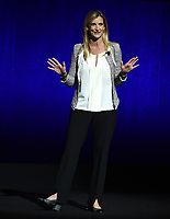 LAS VEGAS, NV - APRIL 24: EVP, Distribution at The Walt Disney Company Cathleen Taff speaks onstage during the CinemaCon 2018 The State of the Industry and Walt Disney Studios Presentation presentation at CinemaCon 2018 at The Colosseum at Caesars Palace on April 24, 2018 in Las Vegas, Nevada. (Photo by Frank Micelotta/PictureGroup)