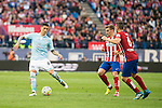 Atletico de Madrid's Filipe Luis, Griezmann and Koke and Celta de Vigo's P. Hernandez during La Liga Match at Vicente Calderon Stadium in Madrid. May 14, 2016. (ALTERPHOTOS/BorjaB.Hojas)