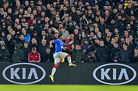 28th November 2019, Rotterdam, Netherlands; Europa League football, Feyenoord versus Glasgow Rangers; Rangers player Alfredo Morelcelebrates as he scores for 1-1 in the 52nd minute - Editorial Use