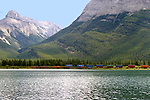 GAP LAKE IN THE CANADIAN ROCKY MOUNTAINS, ALBERTA, CANADA