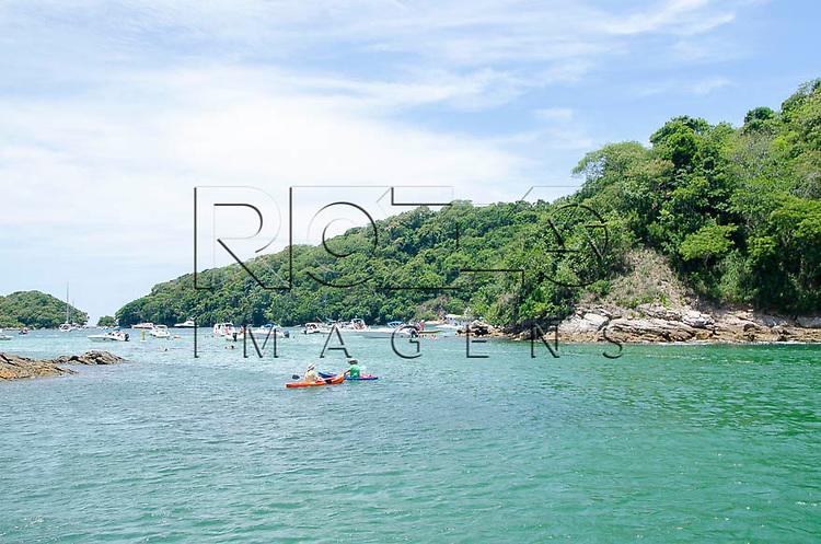 Piscina natural, conhecida como Lagoa Azul em Ilha Grande, Angra dos Reis - RJ, 01/2014.