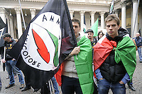 - Milan, demonstration of the neonazi group &quot;Fiamma Tricolore&quot;<br /> <br /> - Milano, manifestazione del gruppo neonazista &quot;Fiamma Tricolore&quot;