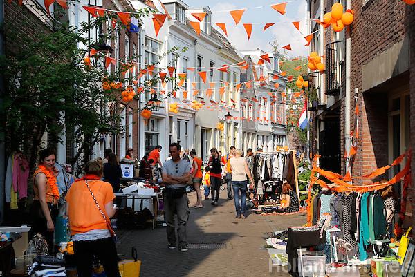 Vrijmarkt op Koningsdag in Utrecht