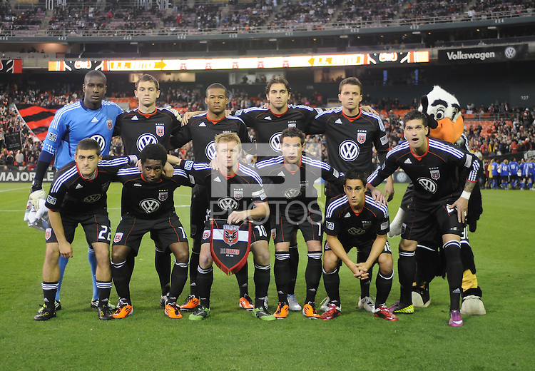 DC United starting elven.  DC United tied Los Angeles Galaxy 1-1, at RFK Stadium, Saturday April 9, 2011.