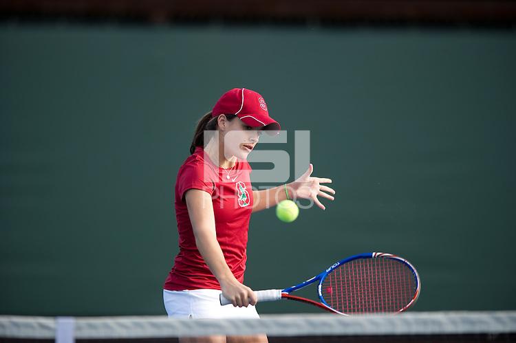 Nicole Gibbs of the 2010 Stanford women's Tennis Team.