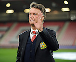 Manchester United Manager Louis van Gaal walks out to inspect the pitch<br /> - Barclays Premier League - Bournemouth vs Manchester United - Vitality Stadium - Bournemouth - England - 12th December 2015 - Pic Robin Parker/Sportimage