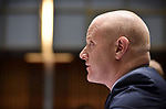 CBA CEO Ian Narev appears before the House of Representatives Standing Committee on Economics at Parliament House in Canberra, Australia, on Friday, October 20, 2017.  Photographer: Mark Graham/Bloomberg