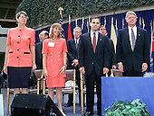 Louis J. Freeh is sworn-in as FBI Director at FBI Headquarters in Washington, DC on September 1, 1993.  Left to right are: Attorney General Janet Reno; Mrs. Louis J. Freeh (Marilyn); Louis J. Freeh; and United States President Bill Clinton.<br /> Credit: Ron Sachs / CNP