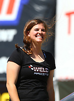 May 21, 2017; Topeka, KS, USA; NHRA top alcohol dragster driver Rachel Meyer during the Heartland Nationals at Heartland Park Topeka. Mandatory Credit: Mark J. Rebilas-USA TODAY Sports