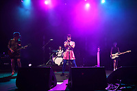 LONDON, ENGLAND - JUNE 10: Dawn Lyle, Tobi Vail, Kathleen Hanna and Kathi Wilcox of 'Bikini Kill' performing at Brixton Academy on June 10, 2019 in Brixton, England.<br /> CAP/MAR<br /> ©MAR/Capital Pictures