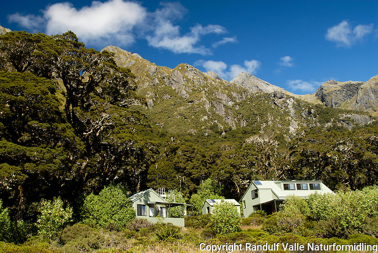 Lake Mckenzie hut, Routeburn Track, New Zealand.