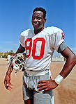 San Francisco 49ers training camp August 4, 1988 at Sierra College, Rocklin, California.  San Francisco 49ers wide receiver Jerry Rice (80).