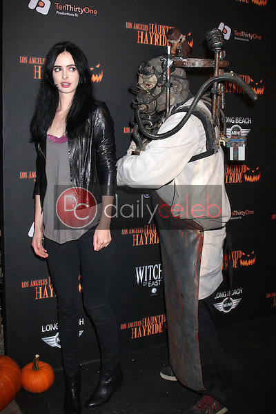 Krysten Ritter<br /> at the 8th Annual LA Haunted Hayride Premiere Night, Griffith Park, Los Angeles, CA 10-10-13<br /> David Edwards/DailyCeleb.Com 818-249-4998