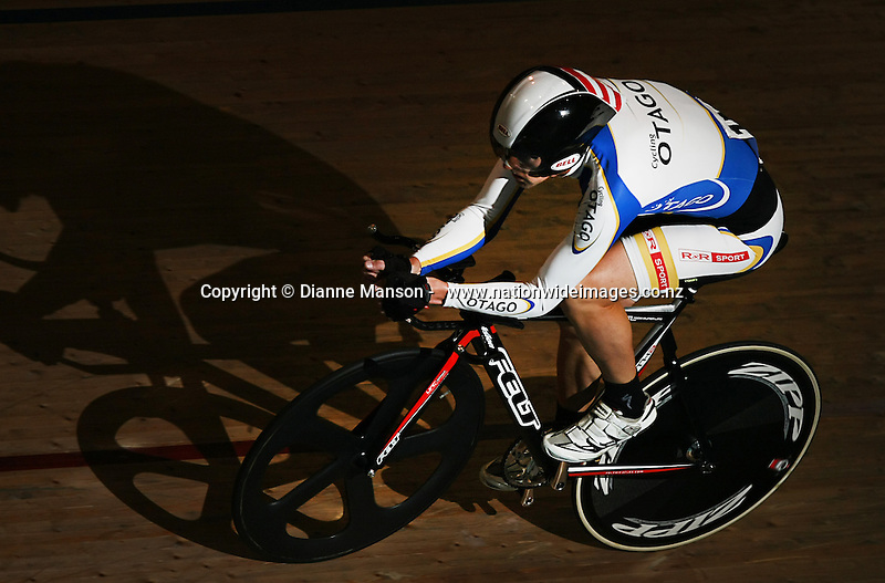 Otago's Stu Crooks competes in the Masters Men 1 3000m Individual Pursuit at the Age Group and Omnium track national championships, SIT Zero Fees Velodrome, Invercargill, New Zealand, Friday, March 07, 2013. Credit:Dianne Manson