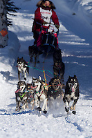 Sunday, March 4, 2012  Sigrid Ekran at the restart of Iditarod 2012 in Willow, Alaska.