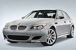 Low aggressive front three quarter view of a 2008 BMW M5 Sedan