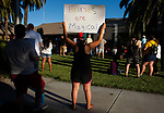 A large crowd gathered at Dixon City Hall on Tuesday evening, July 10, 2018 in Dixon, California to protest Vice Mayor Ted Hickman's recent editorial published in the local Independent Voice.   Photos/Victoria sheridan 2018