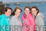 0106-0109.---------.Looking for Buoys.-----------------.Checking the talent at the Maherees Regatta last Sunday were Castlegregory girls L-R Siobhan Goodwin,Cli?odhna Shanahan,Catriona Browne and Katherina Griffin..-----------------------------------------------------------------------------------------------------.