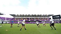 Orlando, Florida - Friday January 12, 2018: Team Nemeziz players practice. The 2018 adidas MLS Player Combine Skills Testing was held Orlando City Stadium.
