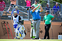 Ryan Moore (USA) watches his tee shot on 10 during round 2 of the Valero Texas Open, AT&amp;T Oaks Course, TPC San Antonio, San Antonio, Texas, USA. 4/21/2017.<br /> Picture: Golffile | Ken Murray<br /> <br /> <br /> All photo usage must carry mandatory copyright credit (&copy; Golffile | Ken Murray)