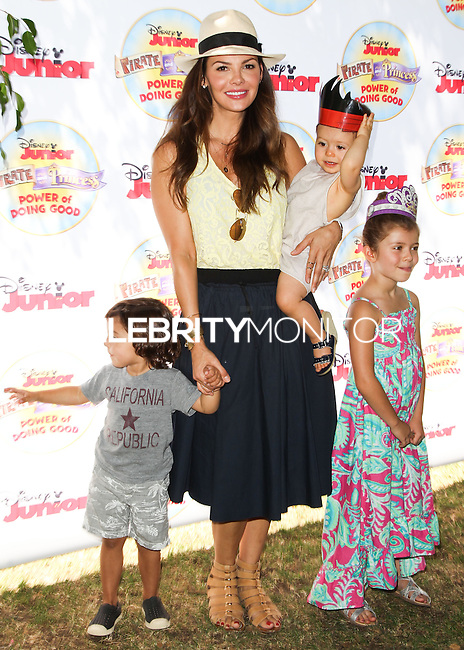 PASADENA, CA, USA - AUGUST 16: Marcelo Monteverde, Ali Landry, Valentin Monteverde, Estela Monteverde at the Disney Junior's 'Pirate And Princess: Power Of Doing Good' Tour held at Brookside Park on August 16, 2014 in Pasadena, California, United States. (Photo by Celebrity Monitor)