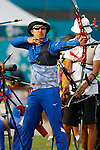 Hiroki Muto (JPN), <br /> AUGUST 21, 2018 - Archery : <br /> Men's Recurve Individual Ranking Round <br /> at Gelora Bung Karno Archery Field <br /> during the 2018 Jakarta Palembang Asian Games <br /> in Jakarta, Indonesia. <br /> (Photo by Naoki Morita/AFLO SPORT)