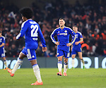 Chelsea's Eden Hazard looks on dejected as PGS's Zlatan Ibrahimovic celebrates scoring his sides second goal <br /> <br /> - UEFA Champions League - Chelsea vs Paris Saint Germain - Stamford Bridge - London - England - 9th March 2016 - Pic David Klein/Sportimage