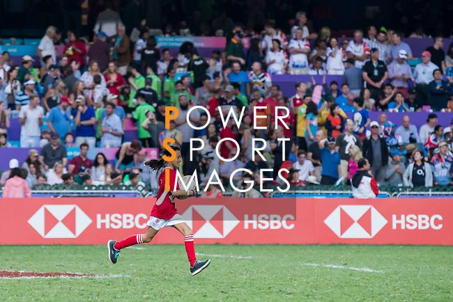 HSBC Ball Carriers during the HSBC Hong Kong Rugby Sevens 2018 on 08 April 2018, in Hong Kong, Hong Kong. Photo by Yu Chun Christopher Wong / Power Sport Images