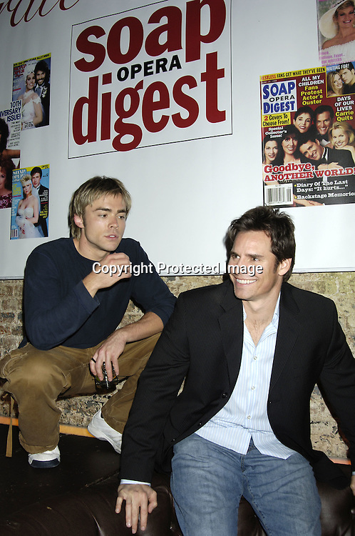 John-Paul Lavoisier and Dan Gauthier ..at the 30th Anniversary Party for Soap Opera Digest on ..November 17, 2005 at PM Lounge. ..Photo by Robin Platzer, Twin Images