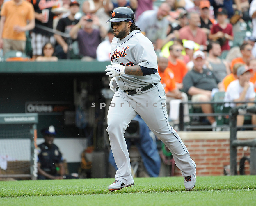 Detroit Tigers Prince Fielder (28) during a game against the Baltimore Orioles on June 2, 2013 at Oriole Park in Baltimore, MD. The Orioles beat the Tigers 4-2.