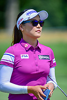 So Yeon Ryu (KOR) departs the number 1 green during Sunday's final round of the 72nd U.S. Women's Open Championship, at Trump National Golf Club, Bedminster, New Jersey. 7/16/2017.<br /> Picture: Golffile | Ken Murray<br /> <br /> <br /> All photo usage must carry mandatory copyright credit (&copy; Golffile | Ken Murray)