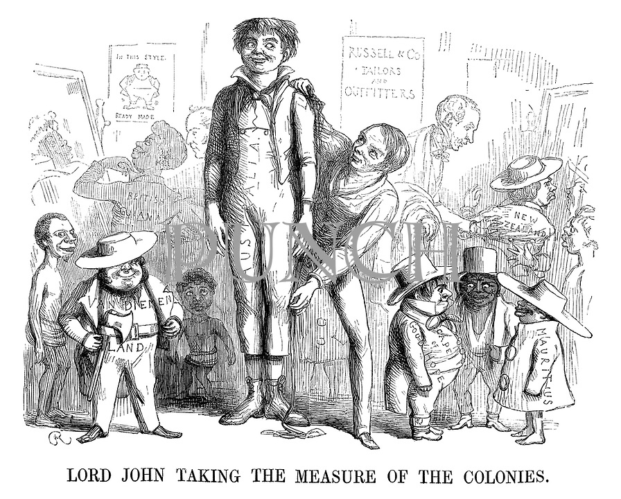 Lord John Taking the Measure of the Colonies.
