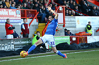 Stelios Demetriou of Macclesfield Town during Crawley Town vs Macclesfield Town, Sky Bet EFL League 2 Football at Broadfield Stadium on 23rd February 2019