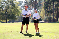 CHAPEL HILL, NC - OCTOBER 11: Assistant coach Kevin Williams and Mathilde Claisse of the University of South Carolina at UNC Finley Golf Course on October 11, 2019 in Chapel Hill, North Carolina.