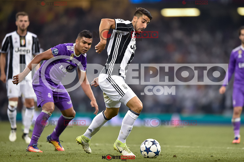 Sami Khedira of Juventus during the UEFA Champions League Final match between Real Madrid and Juventus at the National Stadium of Wales, Cardiff, Wales on 3 June 2017. Photo by Giuseppe Maffia.<br /> <br /> Giuseppe Maffia/UK Sports Pics Ltd/Alterphotos /nortephoto.com