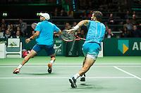 Rotterdam, The Netherlands, February 13, 2016,  ABNAMROWTT, Jean-Julien Rojer (NED), Horia Tecau (ROU)<br /> Photo: Tennisimages/Henk Koster