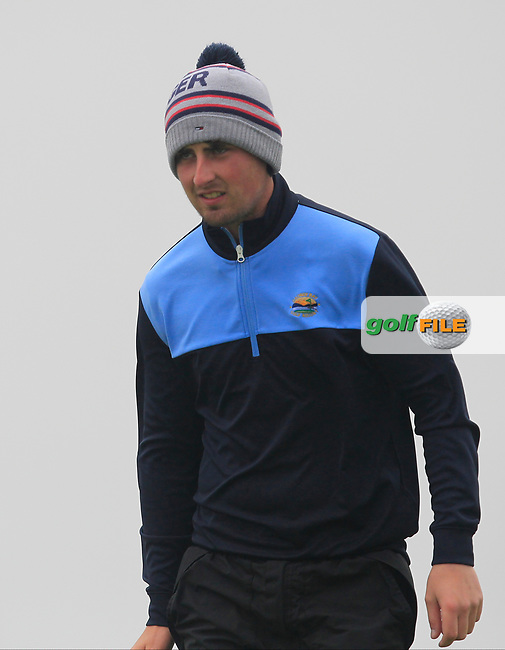 Michael Sheil (Galway Bay) on the 17th green during the Connacht Semi-Final of the AIG Barton Shield at Galway Bay Golf Club, Galway, Co Galway. 11/08/2017<br /> Picture: Golffile | Thos Caffrey<br /> <br /> <br /> All photo usage must carry mandatory copyright credit     (&copy; Golffile | Thos Caffrey)