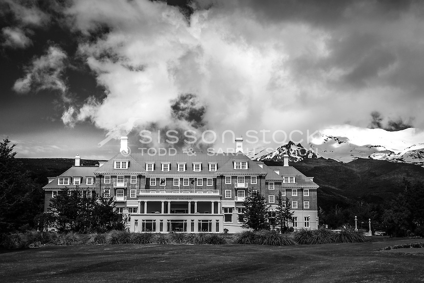 The Chateau, Tongariro National Park, New Zealand - stock photo, canvas, fine art print