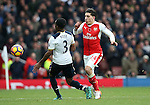 Arsenal's Hector Bellerin tussles with Tottenham's Danny Rose during the Premier League match at the Emirates Stadium, London. Picture date November 6th, 2016 Pic David Klein/Sportimage